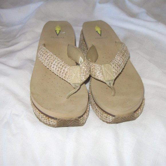 volatile Platform Sandal Thong Size 8